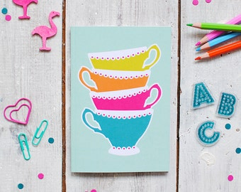 Tea Notebook | Colourful Note Book | Lined Notebook | Notepad | A6 Notebook | Pocket Note Book | Recyled