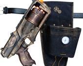Steampunk TOY gun Nerf Strongarm soft dart toy Holster-belt Cyber gothis cospla Vampire Zombie Man