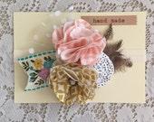 Vintage Flower Headband - Bohemian - Floral Headband
