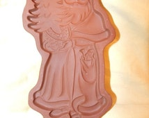 Longaberger Kris Kringle Santa Cookie Mold Shortbread Mold