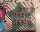 mermaid scrapbook under the sea mini album---custom order for Denise
