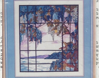 Rare Tiffany View From Oyster Bay Kappie Originals Ltd Counted Cross Stitch Kit 794-1-2 UnOpened Kit Christmas Gift for Her