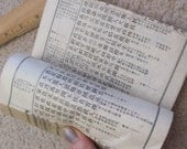 6 Pages from a Small Early Century Japanese Ledger Book - Mulberry Paper