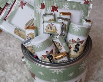 Christmas Gallon Keepsake Can,Christmas Guest Gift, Christmas Host Gift Set, Keepsake Can, Personalized Christmas Gift Set.