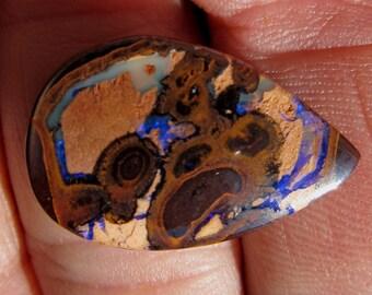 26 x 17 mm Australian Koroit Boulder Opal Cabochon -  17 ct