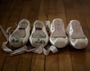 8x12 Old and New Pointe Shoes - fine art ballet photo