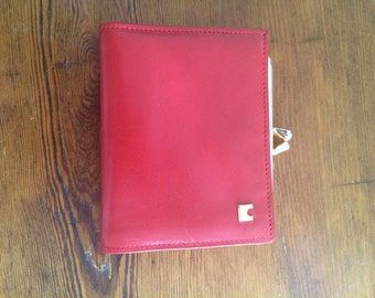 Vintage Red leather wallet - women's quality leather wallet