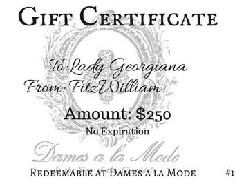 Dames a la Mode Gift Certificate - Any Amount