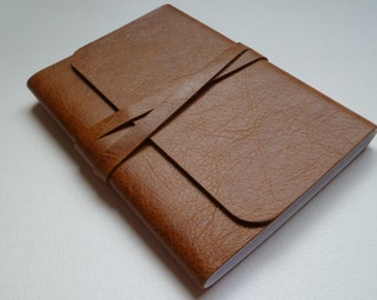 Journal Notebook Leather Journal Leather Notebook Travel Journal Leather Book. Golden Tan.
