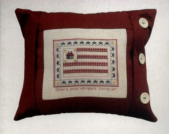 JBW Designs: Stars and Stripes Forever (OOP) - Cross Stitch Pattern with Embellishments
