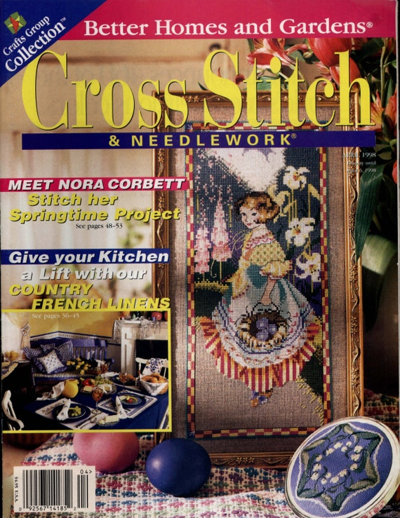 Cross stitch needlework april 1998 issue cross stitch Better homes and gardens current issue