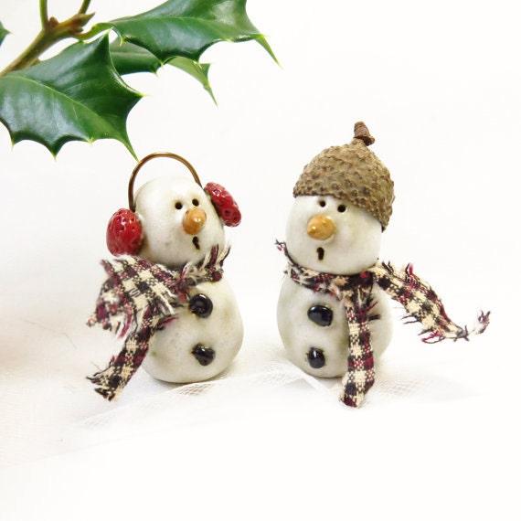 Christmas Tree Shops Union Nj: Ceramic Snowman Ornament / ONE Handmade Pottery By