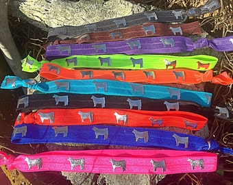 Show cattle elastic headbands
