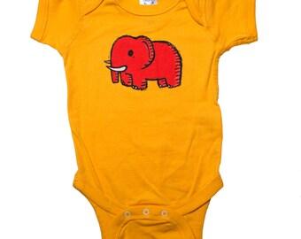 elephant baby bodysuit, elephant baby outfit, elephant infant jumper, elephant baby gift, baby shower gift, baby gift, onesie