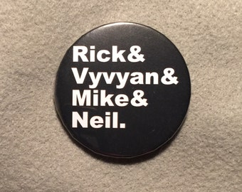 The Young Ones - Rick, Vyvyan, Mike, Neil - Pinback Button - 2.25 inches