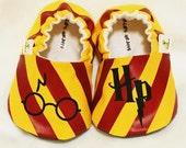 Harry Potter Baby Booties - Handmade - 3-18 months