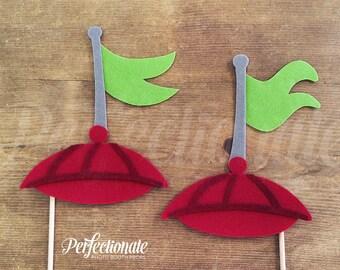 2 Felt Propeller Hats | Tweedledee and Tweedledum Props | Wonderland Props | Tea Party Prop | Alice in Wonderland Photo-Booth