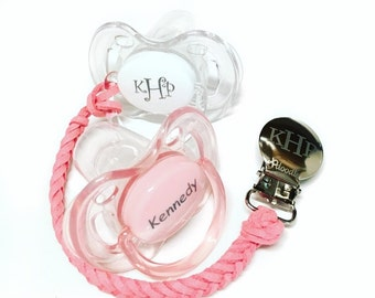 Personalized Pacifier Pacidoodle Pacifiers Baby Girl Personalized Pacifiers Monogram Pacifier Personalized Baby Girl Gift Pacifier Clip 0-6