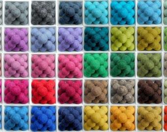 20 wool felt balls 2cm