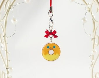 Charmander Phone Charm -Pokemon Phone Charm -Donut Charm -Kawaii Charm -Anime Charm -Food Charm -Dessert Phone Charm -Acrylic Phone Charm