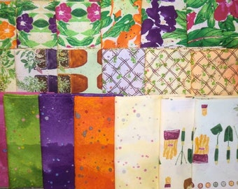 19 fat quarters Cultivate Your Joy by Peg Conley from Clothworks Gardening 100% Cotton Quilt Fabric