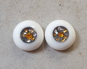 12mm urethane eyes dark gray with diamonds