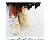 Snowflake Slippers Crochet Pattern - Instant Download