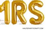 MRS GOLD Foil Mylar Balloons (2 day sale)