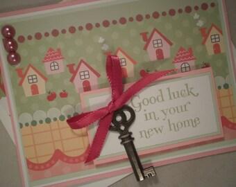 New Home Congrats, Handmade Congratulations Card, New Home, Key, Neighbor