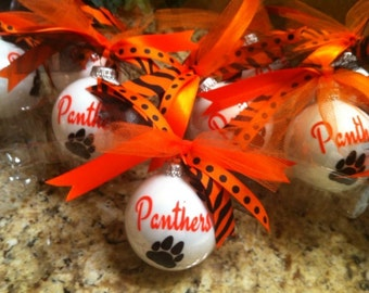Personalized Ornaments-Christmas Balls-Personalized Team Ornaments-Sports Team Gift-Banquet Gift-Cheer Gift-Best Cheer Gift