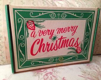 Vintage Christmas Storage Box