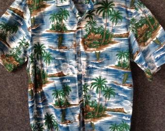 Vintage Aloha Hawaii Hawaiian shirt large