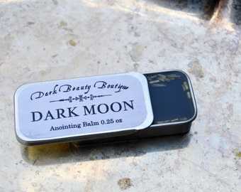 DARK MOON Anointing Salve - Charcoal, Clove, Wormwood and Rosemary - Spellwork, Witchcraft, Wicca Ritual