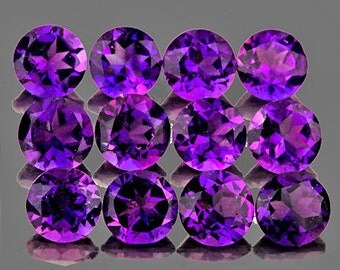 Rich Purple Amethyst Faceted Rounds 4 MM Natural Gemstones,  Priced Each Stone, Calibrated