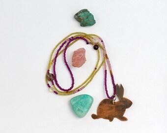 Rabbit Totem Bohemian Beaded Necklace