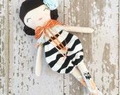 Vivi~ SpunCandy Classic Doll, Heirloom Quality Doll, Modern Rag Doll, Nursery Decor, Kids Decor, Fabric Doll, Cloth Doll, Handmade Doll