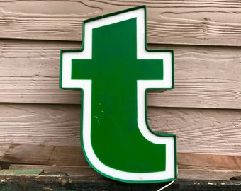 t - Reclaimed vintage letter - 17 inch - NEW