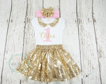 First girl birthday outfit, gold and pink first birthday outfit, second birthday outfit girl, birthday 2, gold birthday, 1st birthday shirt