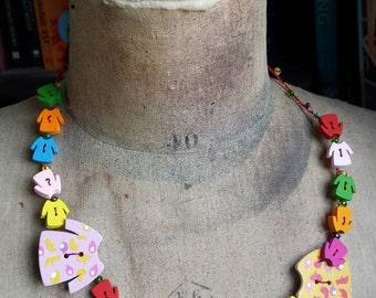 Sale was 20 now 17uk Kate Bush Inspired  - Mrs. Bartolozzi's washing machine wired Necklace
