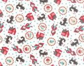 Lil' Red Toss in Cloud White, Stacy Iest Hsu, 100% Cotton, Moda Fabrics, 20503 11