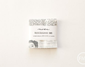 Modern Background Paper Candy Pack, Mini Charm Pack, Brigitte Heitland, Zen Chic, Moda Fabrics, 1580MC