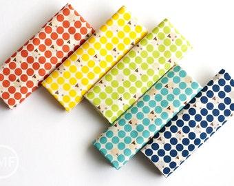 Sheep Dots Fat Quarter Bundle, 5 Pieces, Westex Fabrics, Japanese Import Fabric, 100% Cotton Fabric