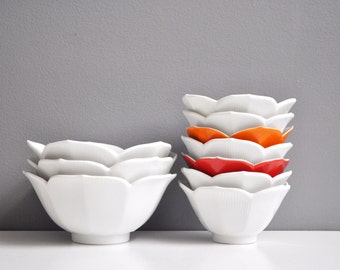 Collection of Vintage Porcelain Lotus Bowls