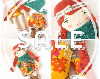 Annie: heirloom doll, cloth doll, handmade doll, rag doll, girl doll