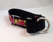 Floral Martingale Dog Collar
