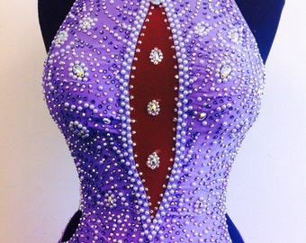Purple Dance Dress   Dance Dresses Lavender   Smooth Dance dress   Ballroom Dance Dresses