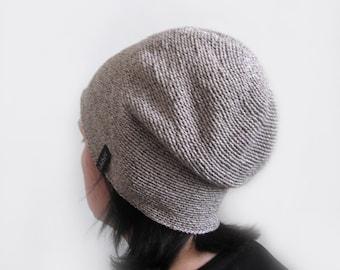 crochet hat, men's or women's, beanie hat, Crochet Slouchy Beanie hat, Skullcap