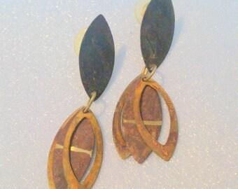 Vintage New Old Stock Modernist Earrings