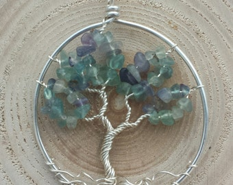 Fluorite Tree Life Pendant