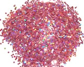 Rose SOLVENT RESISTANT HOLOGRAPHIC Glitter 0.062 Hex- 1 Fl. Ounce for Glitter Nail Art, Glitter Nail Polish & Glitter Crafts